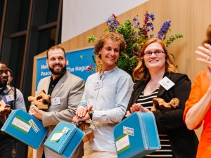 Héctor, Emily and Michiel win the first Nudge Global Impact Awards!