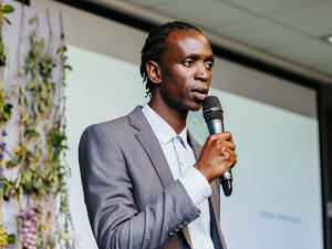 Challenge finalist Peter Ndung'u helps to launch Great Minds Challenge for a sustainable Africa