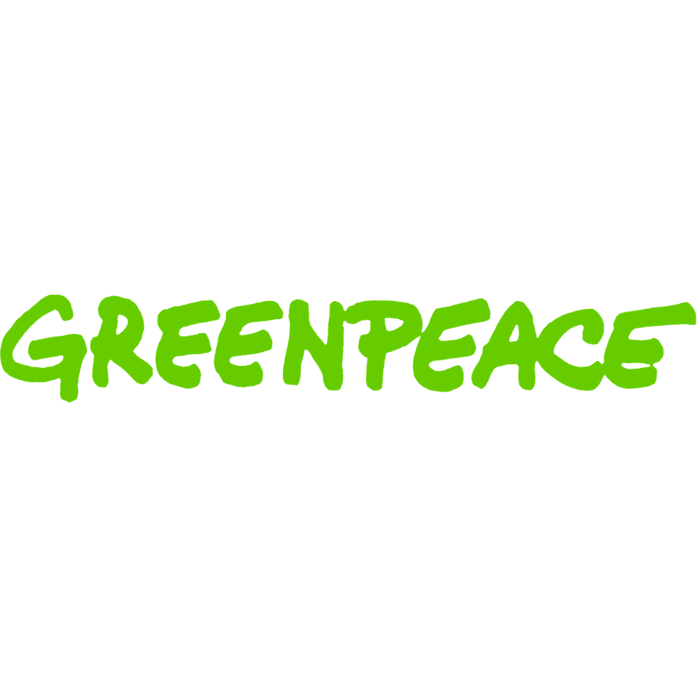 Greenpeace logo green with white background